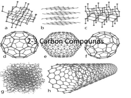 2-3 Carbon Compounds.