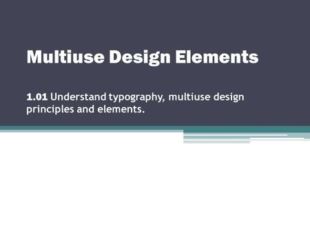 Multiuse Design Elements 1