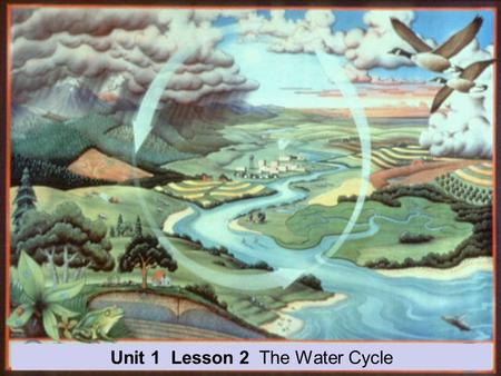 Unit 1 Lesson 2 The Water Cycle