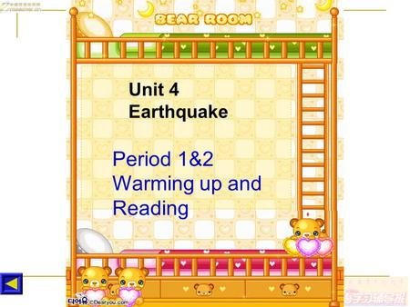 Period 1&2 Warming up and Reading Unit 4 Earthquake.