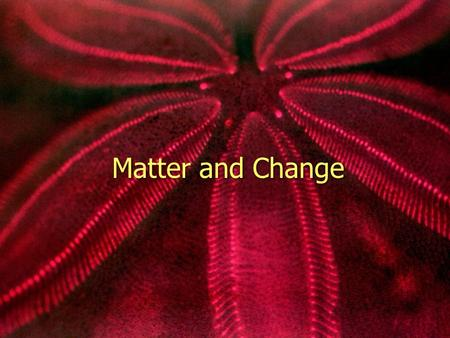 Matter and Change.