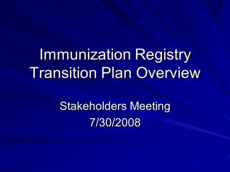 Letty Cherry Kreger, MHA California Immunization Registry