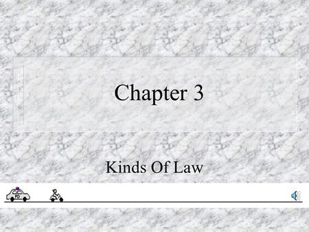 Chapter 3 Kinds Of Law.
