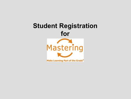 Student Registration for.