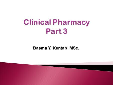 Basma Y. Kentab MSc.. 1. Define ambulatory care 2. Describe the value of ambulatory care practices 3. Explore pharmacy services in some ambulatory care.