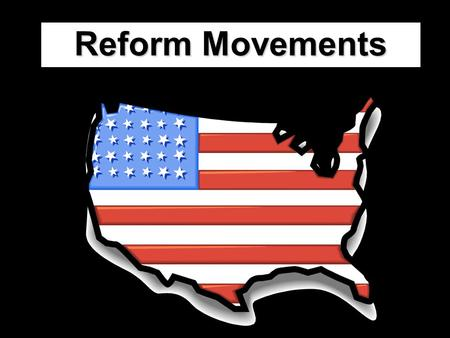 "Reform Movements. To reform means to change something. So, a ""reform movement"" is when different people or groups try and change something about society.reform."