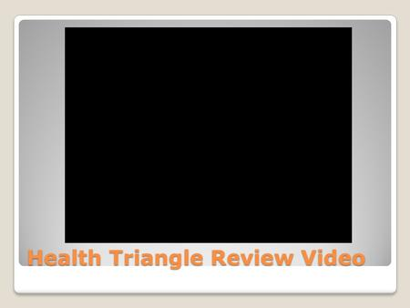 Health Triangle Review Video