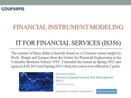 Why attending this Program Sharpening the quantitative