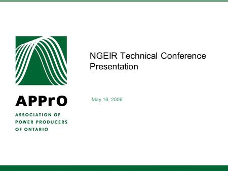 NGEIR Technical Conference Presentation May 16, 2006.