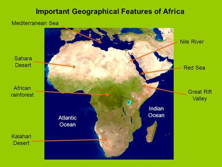 Important Geographical Features of Africa