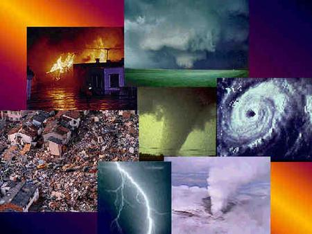 Unit 19: Natural Disasters pt 1 NATURAL DISASTERS An event that occurs naturally and affects the earth's surface and environment –Man made disasters.