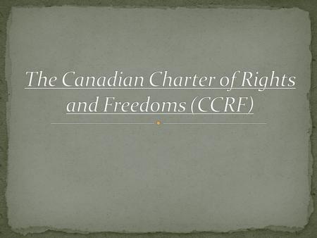 The Charter is part of the Canadian Constitution enacted under the Government of Prime Minister Pierre Trudeau. The Constitution is a set of laws containing.