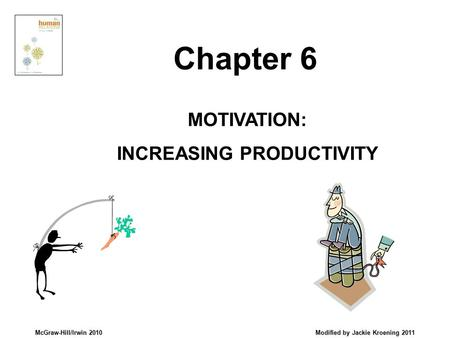 McGraw-Hill/Irwin 2010 Modified by Jackie Kroening 2011 MOTIVATION: INCREASING PRODUCTIVITY Chapter 6.