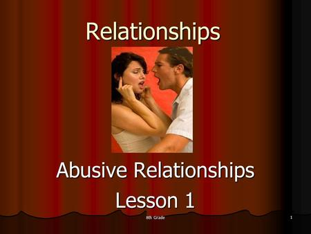Abusive Relationships Lesson 1