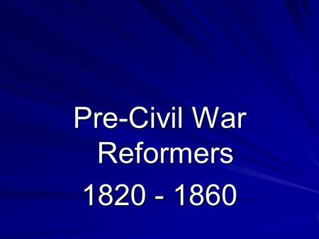 Pre-Civil War Reformers 1820 - 1860. Charles Grandison Finney Famous Preacher Figure in the Second Great Awakening & Revival Movement.