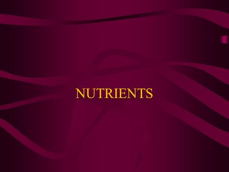 NUTRIENTS. CARBOHYDRATES Body's main source of energy Sugars, starches and fiber 1 gram of carbohydrates = 4 calories Limited storage space for carbohydrates.