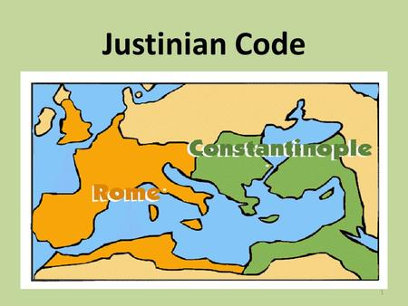 Justinian Code 1. Justinian Looks to the Past In 527 A.D. Justinian I began to plan ways to make the Byzantine Empire as great as the Roman Empire had.