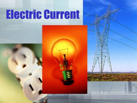 Electric Current. The rate at which electrical charges flow through a wire or conductor is called electric current.The rate at which electrical charges.