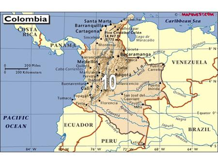 Colombia: Two guerrilla groups (the ELN & FARC), and drug cartels have been pitted against government forces for 50 years. International peace <strong>agreements</strong>.