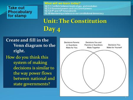 Unit: The Constitution Day 4