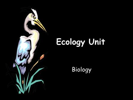 Ecology Unit Biology. Key concepts include: interactions within and among populations nutrient cycling with energy flow through ecosystems the effects.