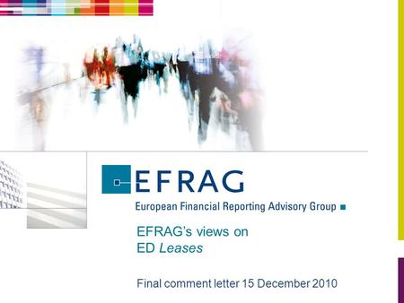 EFRAG's views on ED Leases Final comment letter 15 December 2010.