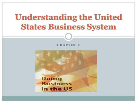 CHAPTER 2CHAPTER 2 Understanding the United States Business System.