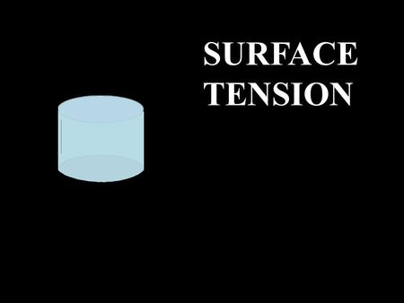 SURFACE TENSION. SURFACE TENSION What's going on at the surface of a liquid?