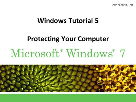 ®® Microsoft Windows 7 Windows Tutorial 5 Protecting Your Computer.