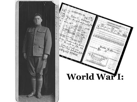 "World War I:. Vocabulary ConscriptionMilitary draft PropagandaThe spread of ideas used to influence public opinion for or against a cause ""Total war""entire."