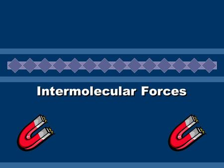 Intermolecular Forces. Kinetic Molecular Theory  Describes the behavior of subatomic particles Liquids, solids, and gases are composed of small particles.