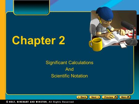 Chapter 2 Significant Calculations And Scientific Notation.