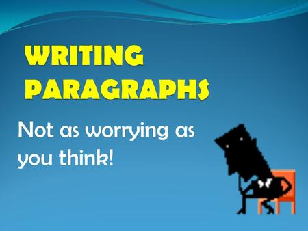 Not as worrying as you think!. Paragraphs are used to organise writing into 'bite sized' chunks of meaning. A paragraph can be one sentence but it is.
