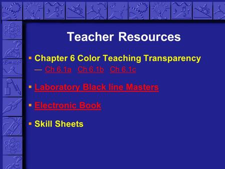 Teacher Resources Chapter 6 Color Teaching Transparency