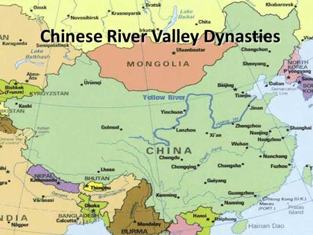 Chinese River Valley Dynasties. Geography of China Natural Barriers – Pacific Ocean to the East; Taklimakan Desert and Tibetan Plateau to the West; Himalaya.