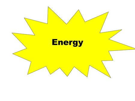 Energy. Energy is the ability to do work – Work is a transfer of energy Energy is measured in joules (J) – 1 joule = work done to move an object 1 meter.