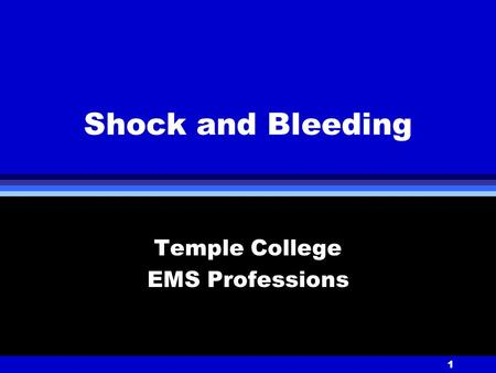 Temple College EMS Professions