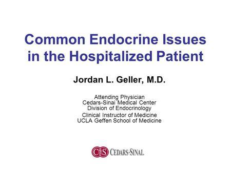 ICU Endocrine Issue CIRCI and Glycemic Control Paul Marik, MD, FCCM