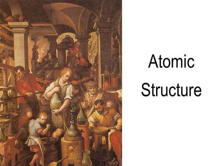 Atomic Structure Two regions of every atom: Nucleus -is made of protons and neutrons -is small and dense Electron cloud -is a region where you might.