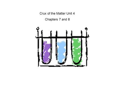 Crux of the Matter Unit 4 Chapters 7 and 8.