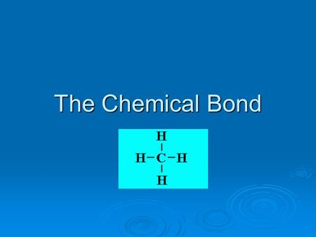The Chemical Bond. Chemical Bonds  Are the forces that hold atoms together to form compounds  Bond energy – the amount of energy needed to break a bond.