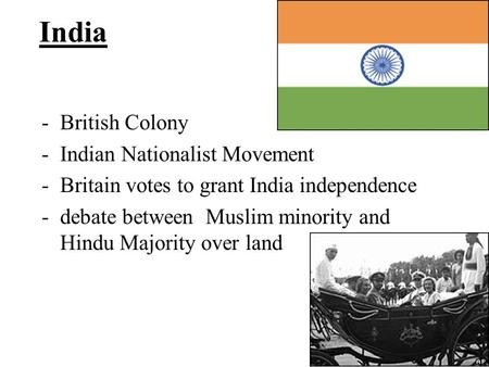 India British Colony Indian Nationalist Movement