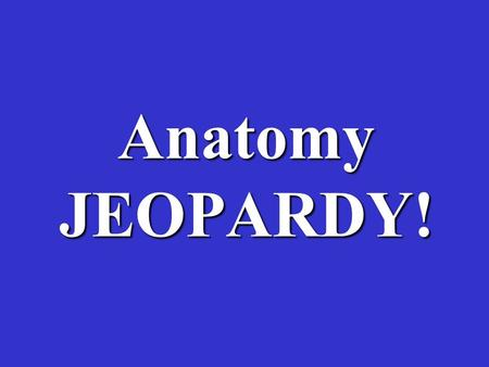 Anatomy JEOPARDY!. VocabDarwin Natural Selection Evidence of Evolution Misc. $100 $200 $300 $400 $500.