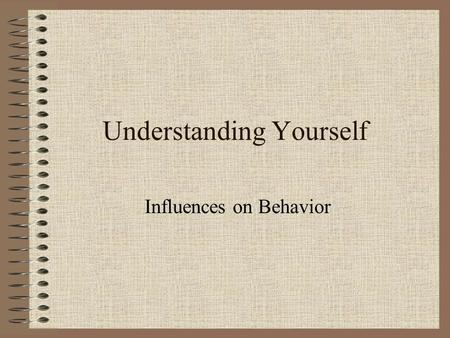 Understanding Yourself Influences on Behavior Factors Affecting Your Decisions Needs Wants Personal Priorities Goals Standards.