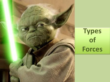 Types of Forces. What is a force? A push or a pull.