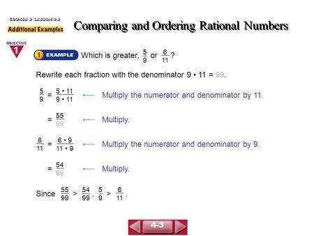 My Homework Lesson 4 Order Numbers 4th Grade - McGraw-Hill