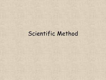 Scientific Method. What is Science? Science is a method for studying the natural world. It is a process that uses observation and investigation to gain.