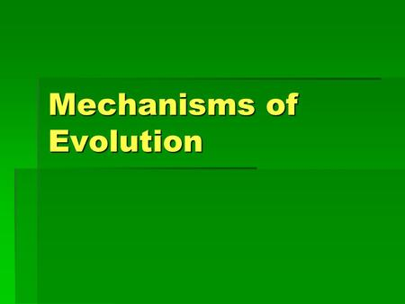 Mechanisms of Evolution. I. Natural Selection & Charles Darwin  Charles Darwin (1819-1882) an English scientist considered the founder of the evolutionary.