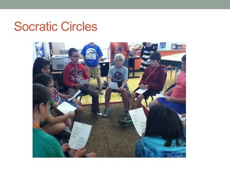 "Socratic Circles. What is a Socratic Circle? A Socratic Circle is a way of teaching founded by the Greek philosopher ""Socrates"". Socrates believed that:"