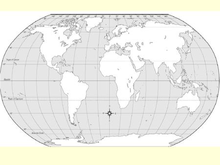 I. Geography Skills A. Terms 1. Latitude: - Distance north or south of equator - Lines called parallels.